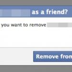 Facebook Unfriend Window