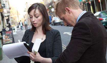 Women being surveyed