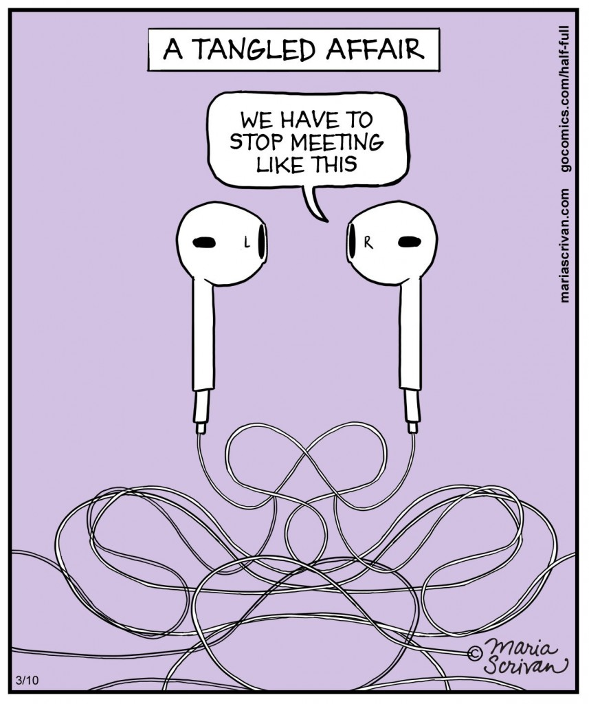tangled headphones