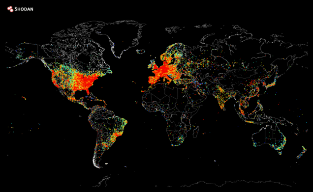 Here's what every device connected to the internet looks like on a Map