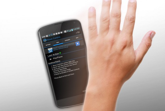 Control you smartphone with the movement of hand