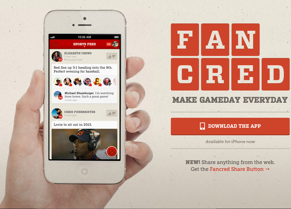 Fancred - social media for sports fans