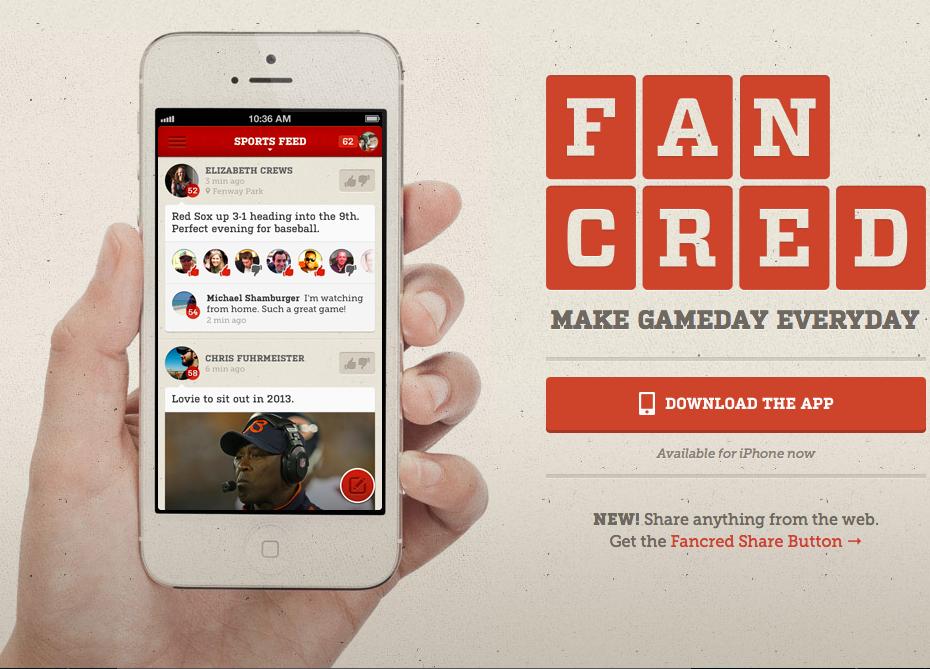 Fancred - social media for sports fans