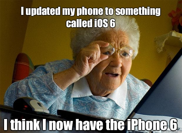 Funny iOS 8 update