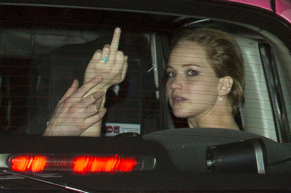 Jennifer Lawrence is angry.