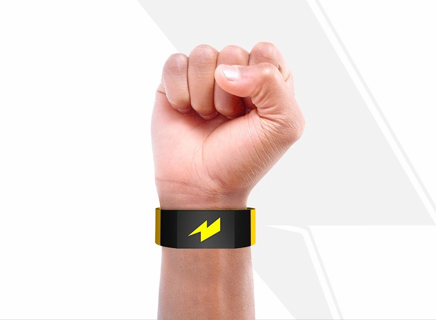Pavlock electric wrist band