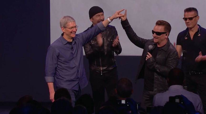 Tim Cook and Bono