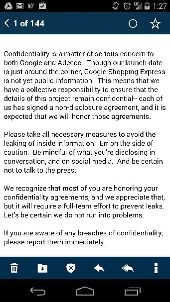 Google leak email