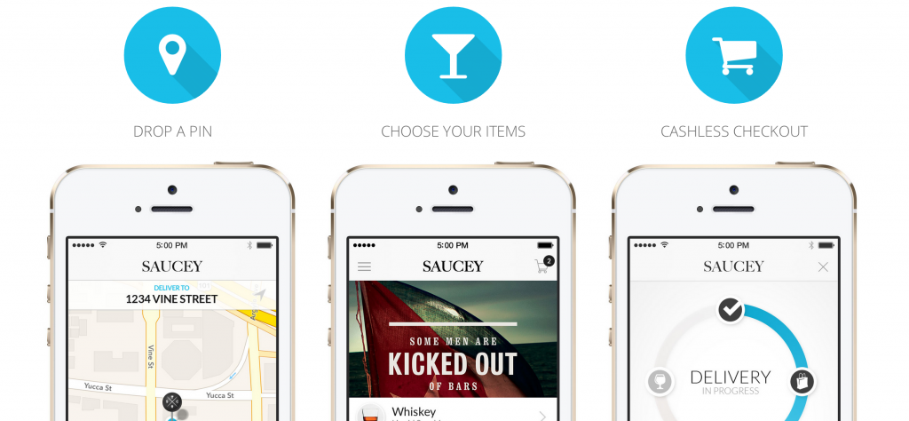 Saucey Alcohol Delivery App