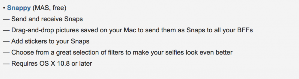Snappy - SnapChat from your Mac