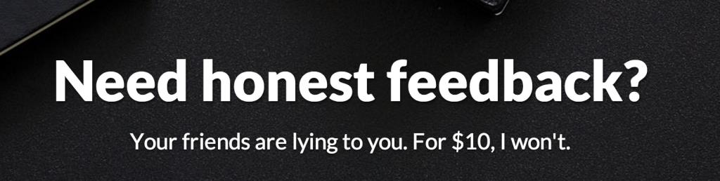 Brutal Honesty for $10 bucks