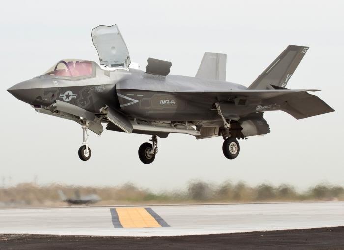 F-35B hover plane
