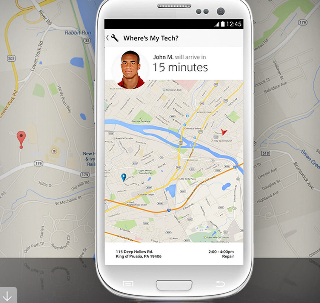 Comcast uber like app