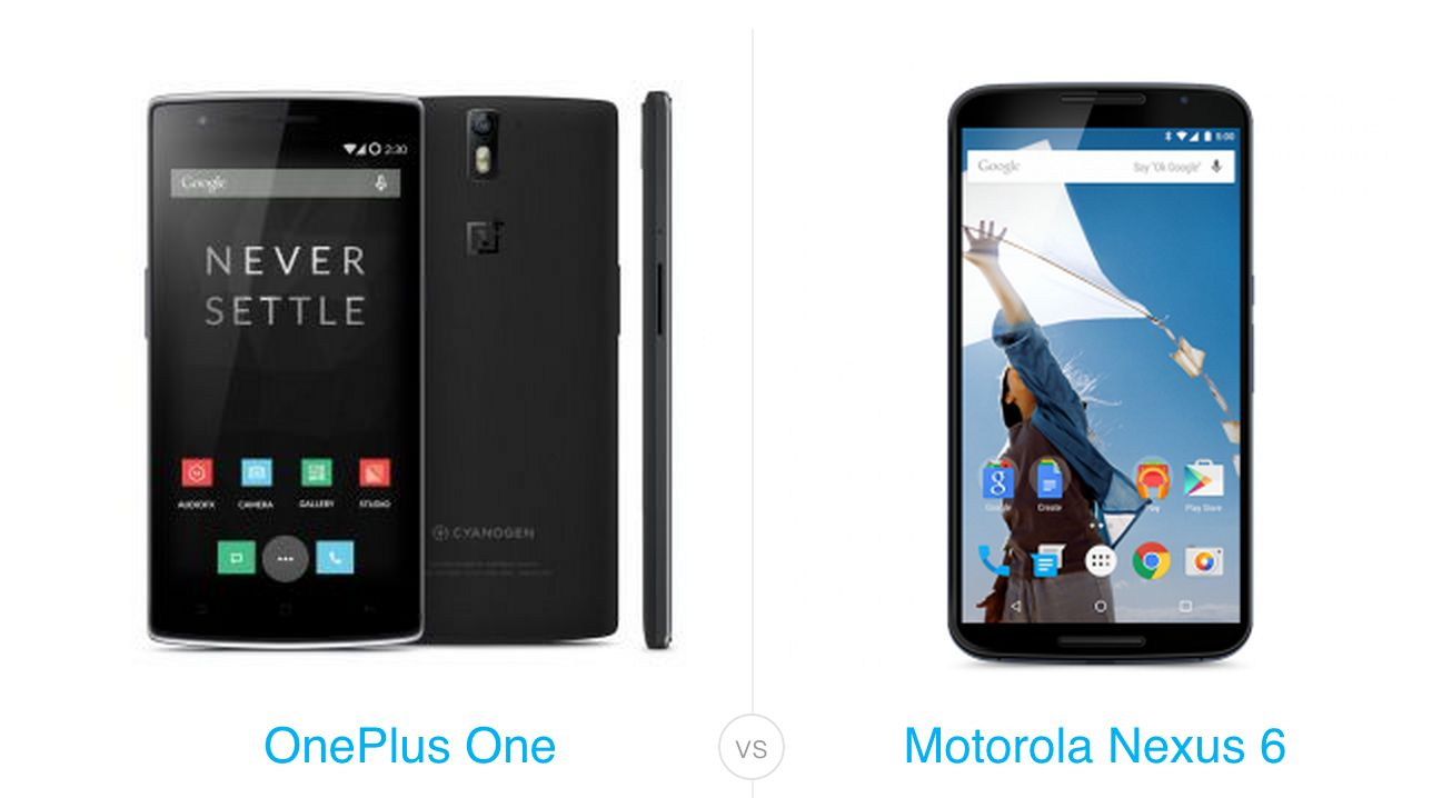 OnePlus One vs Nexus 6