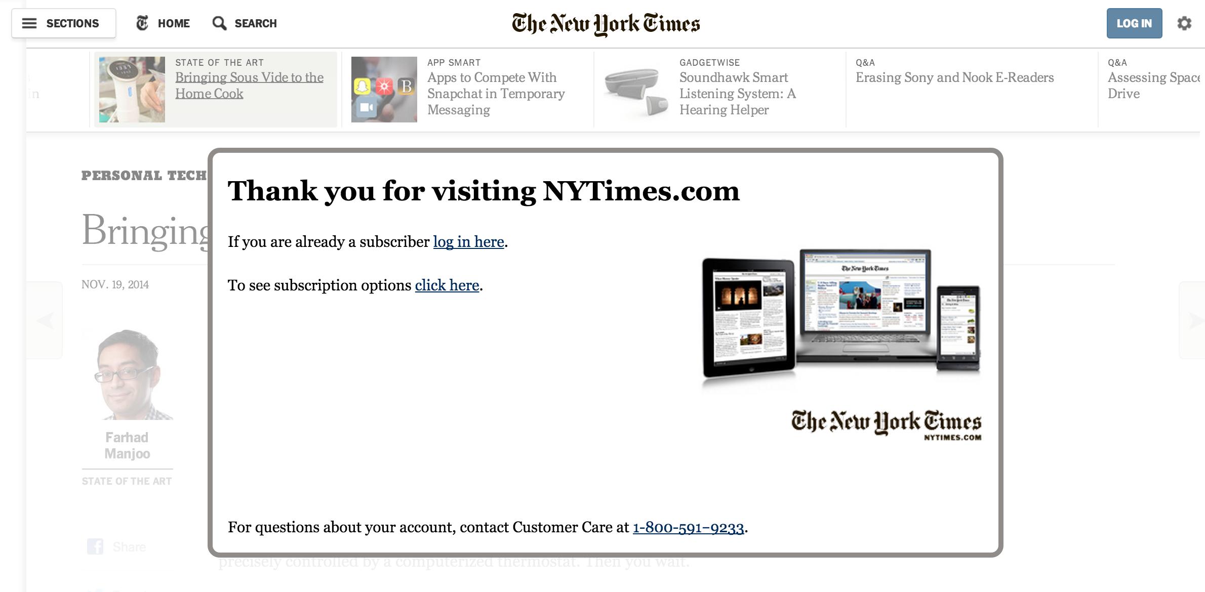 NYTimes screenshot