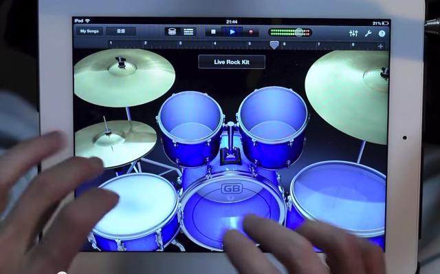 iPad Drumming