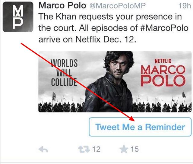 Netflix Twitter Reminder