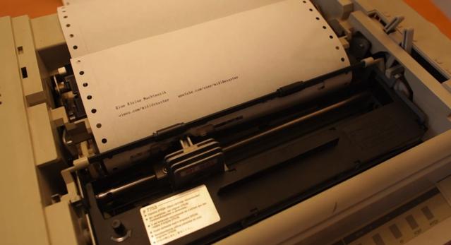 A printer that plays Mozart