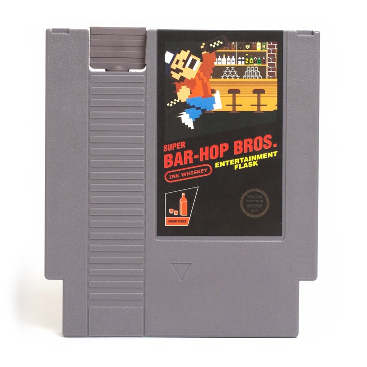 Nintendo Cartridge Flask