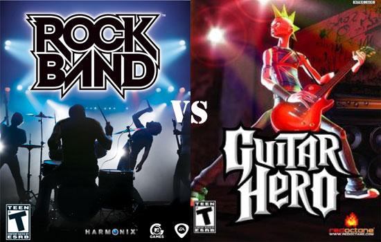 Rock Band vs Guitar Hero