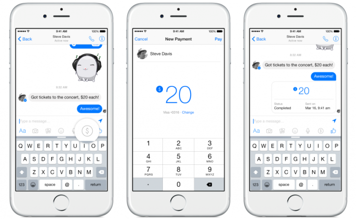 Facebook Messenger Paye