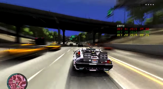 GTA IV back to the future mod