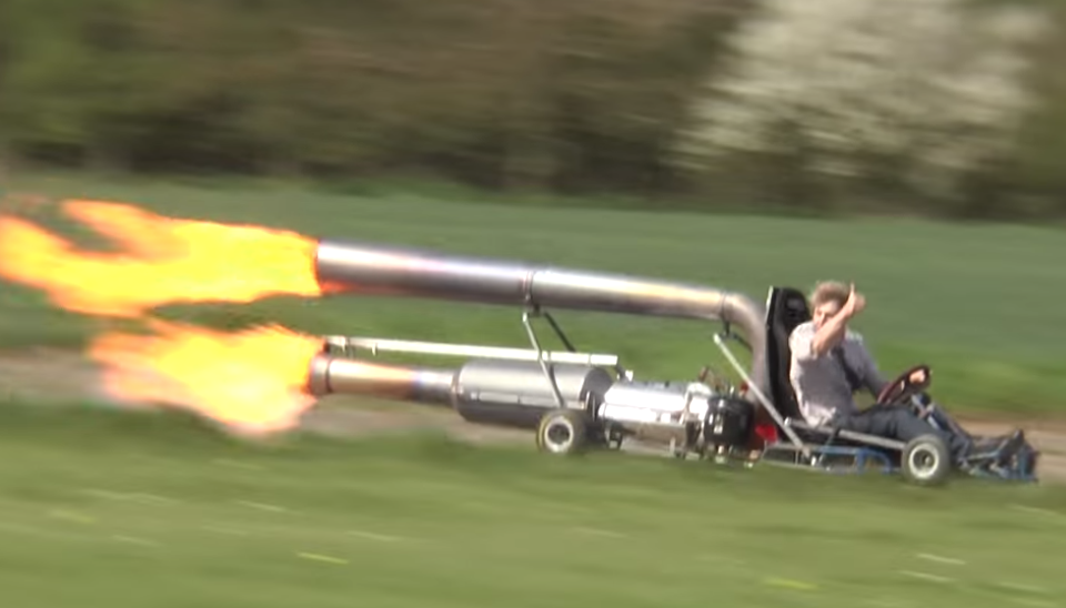 Go-Kar with Jet Engine