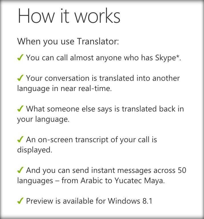 Skype Translator Tool