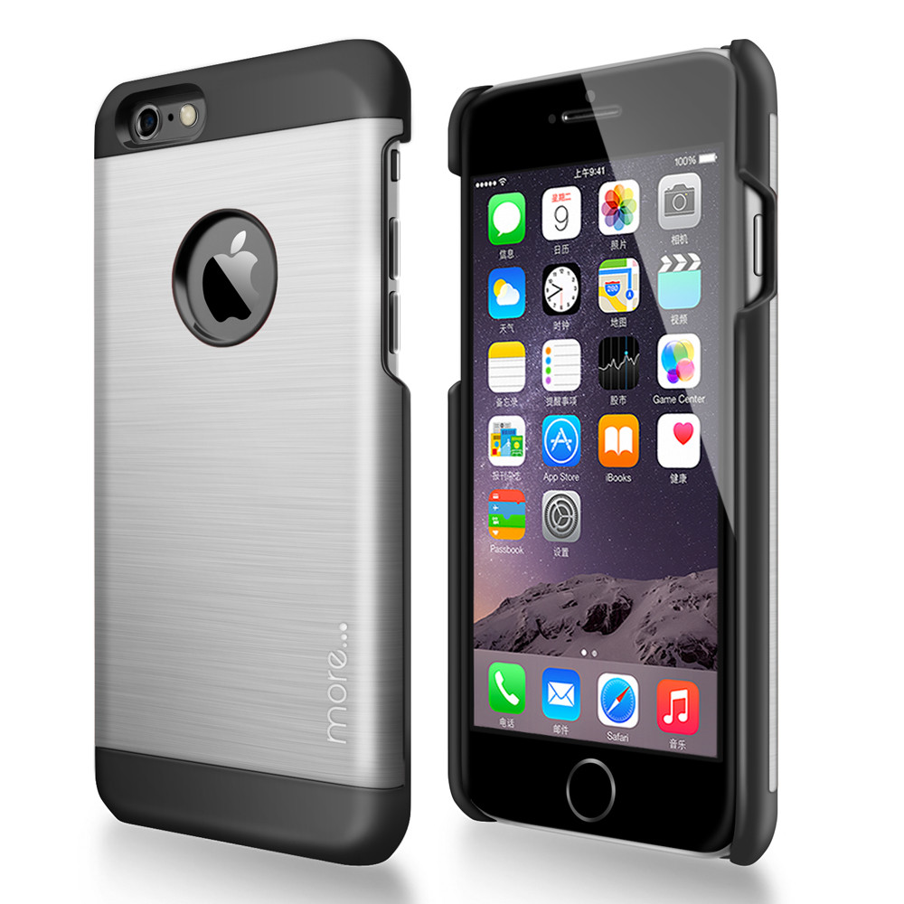 More® Glaze Brushed Aluminium Series for iPhone 6 - Satin Silver