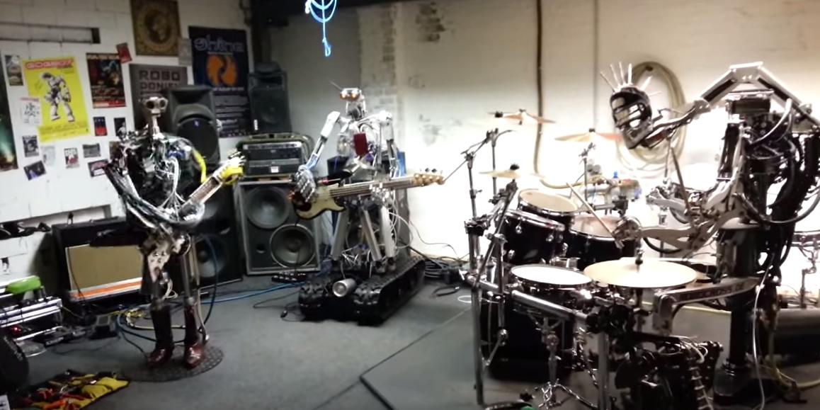 robot metal band
