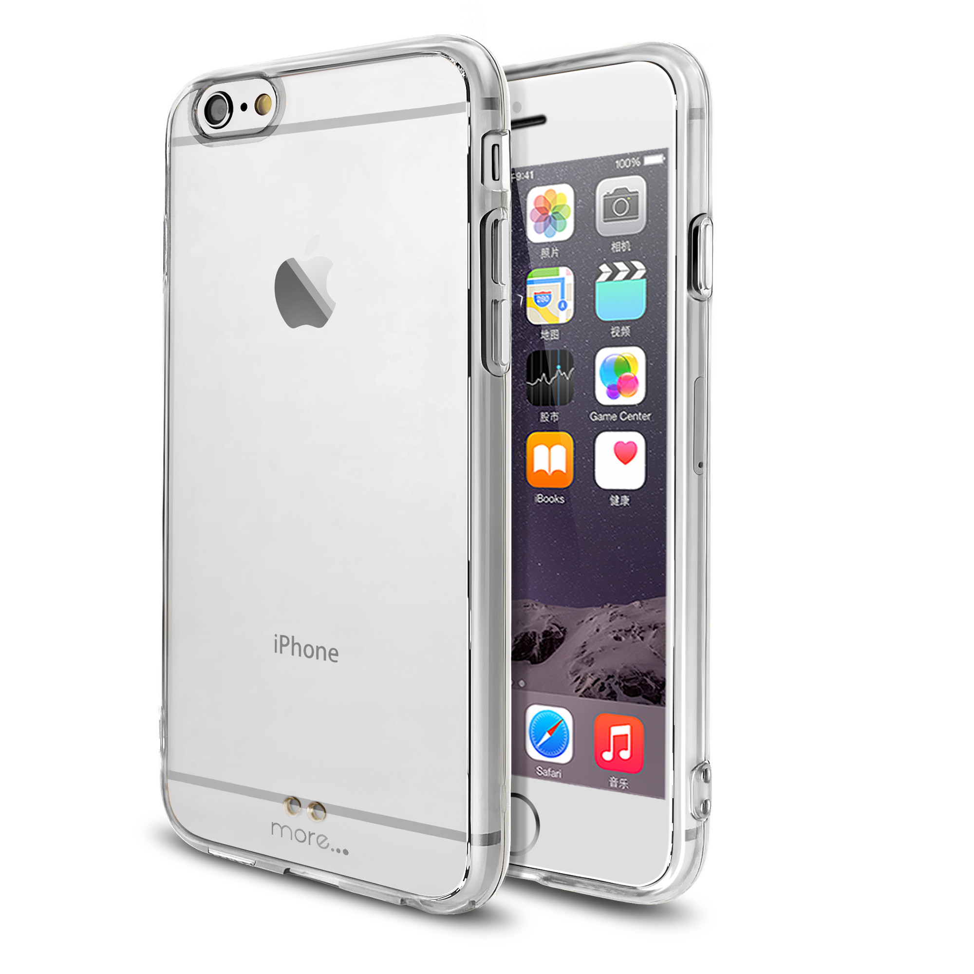 More Ultra Thin BumperLicious Case + Clear Hard Back Series for iPhone 6S / iPhone 6