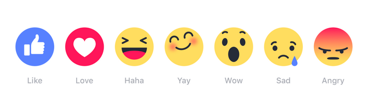 Facebook Reactions Emoji