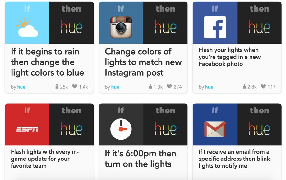 Philips Hue IFTTT
