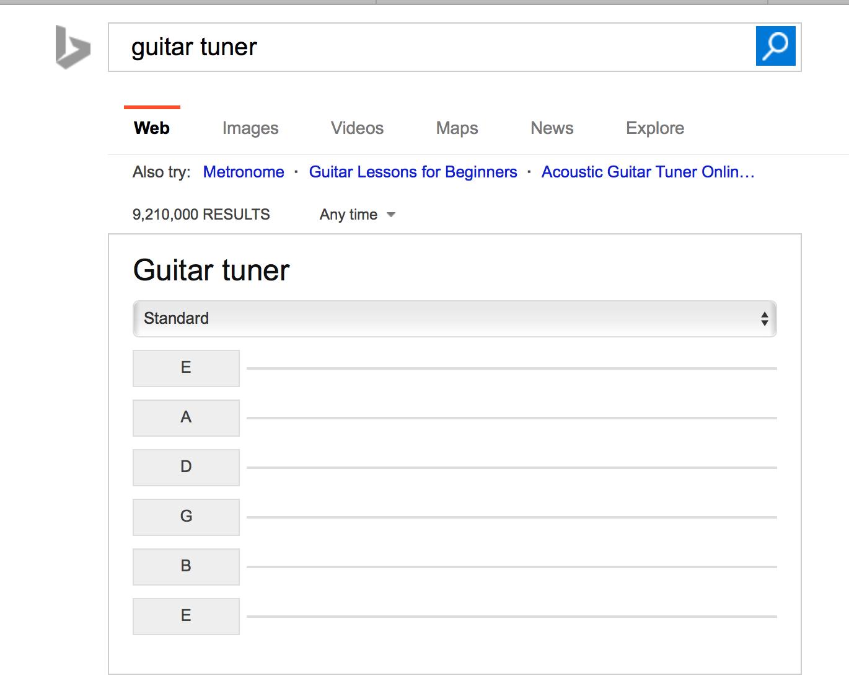 Guitar Tuner Bing