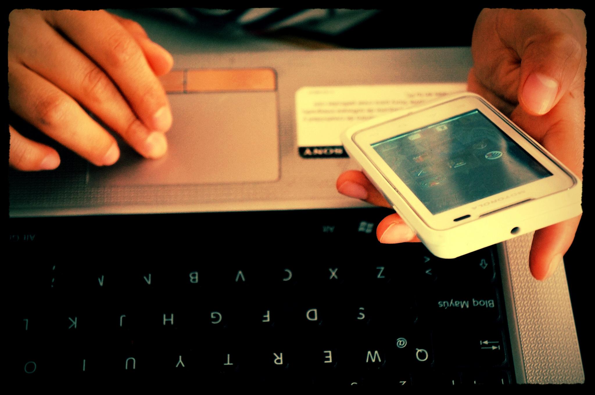 Smartphone-Laptop