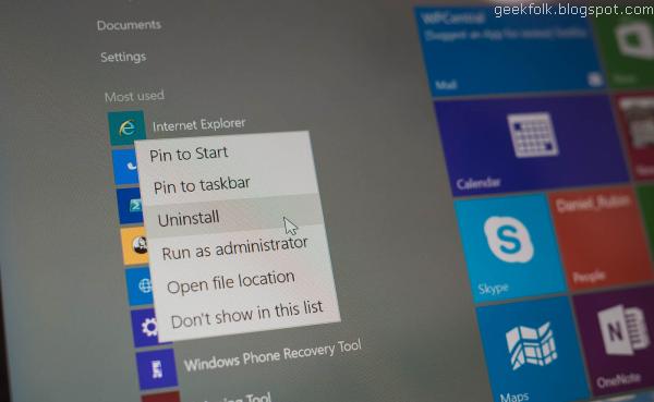 Uninstall Windows 10 apps