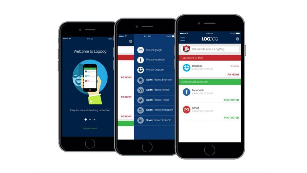 LogDog is an app that alerts users when their online accounts are