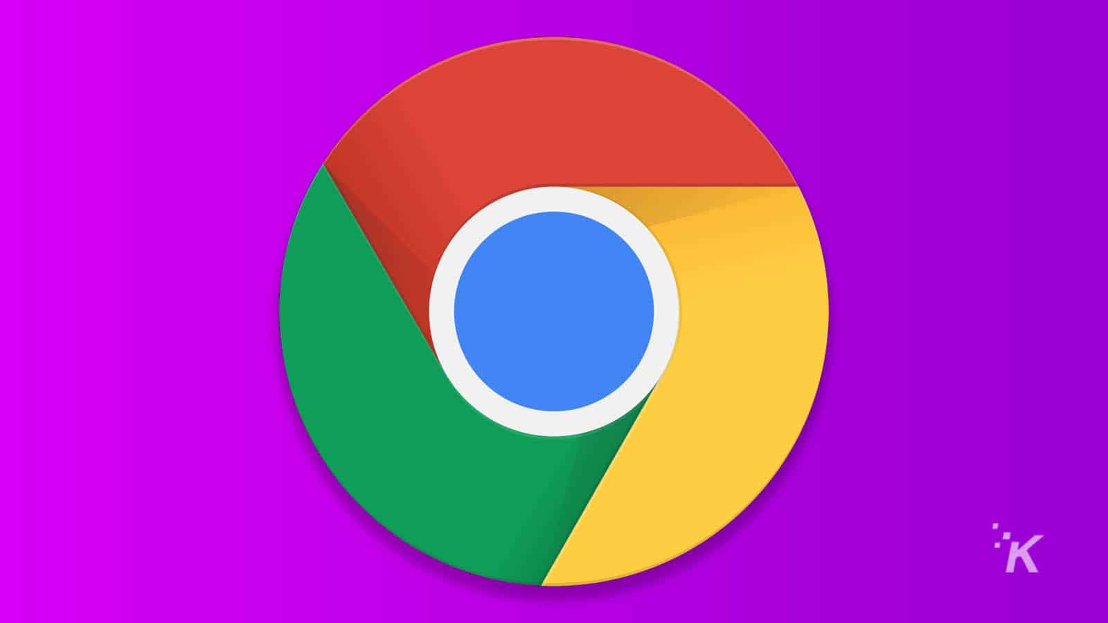google chrome logo on purple background for google search