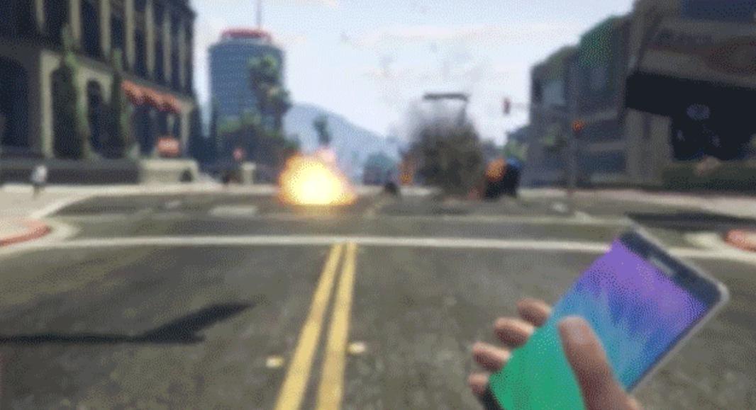 GTA 5 Exploding Galaxy Note 7