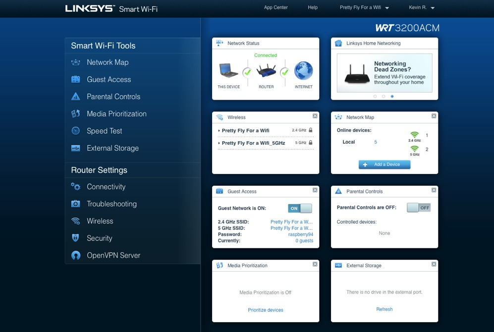 Linksys WRT3200ACM Wi-Fi Router setup