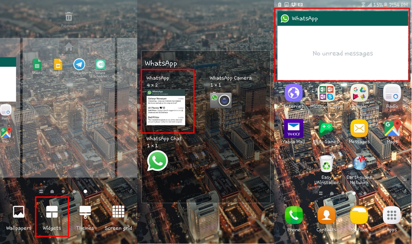 How to Read WhatsApp from Home Screen