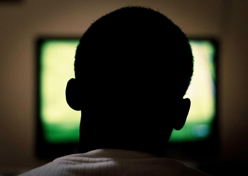 tv man watching