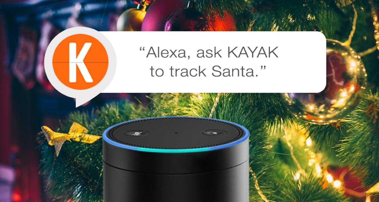 Alexa Kayak Track Santa