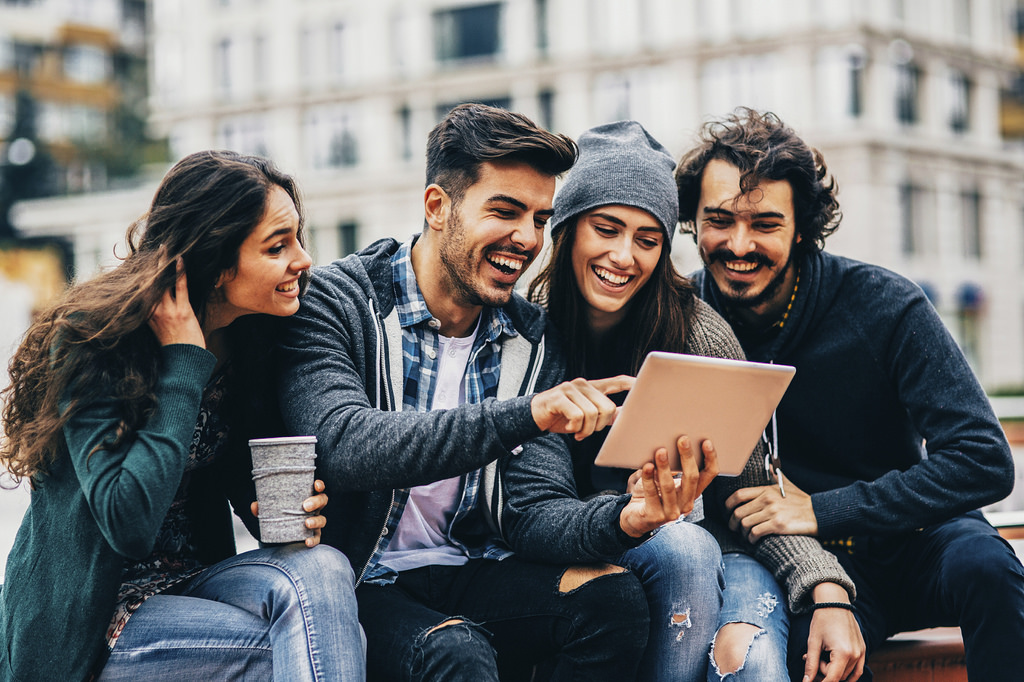 millennials using a tablet