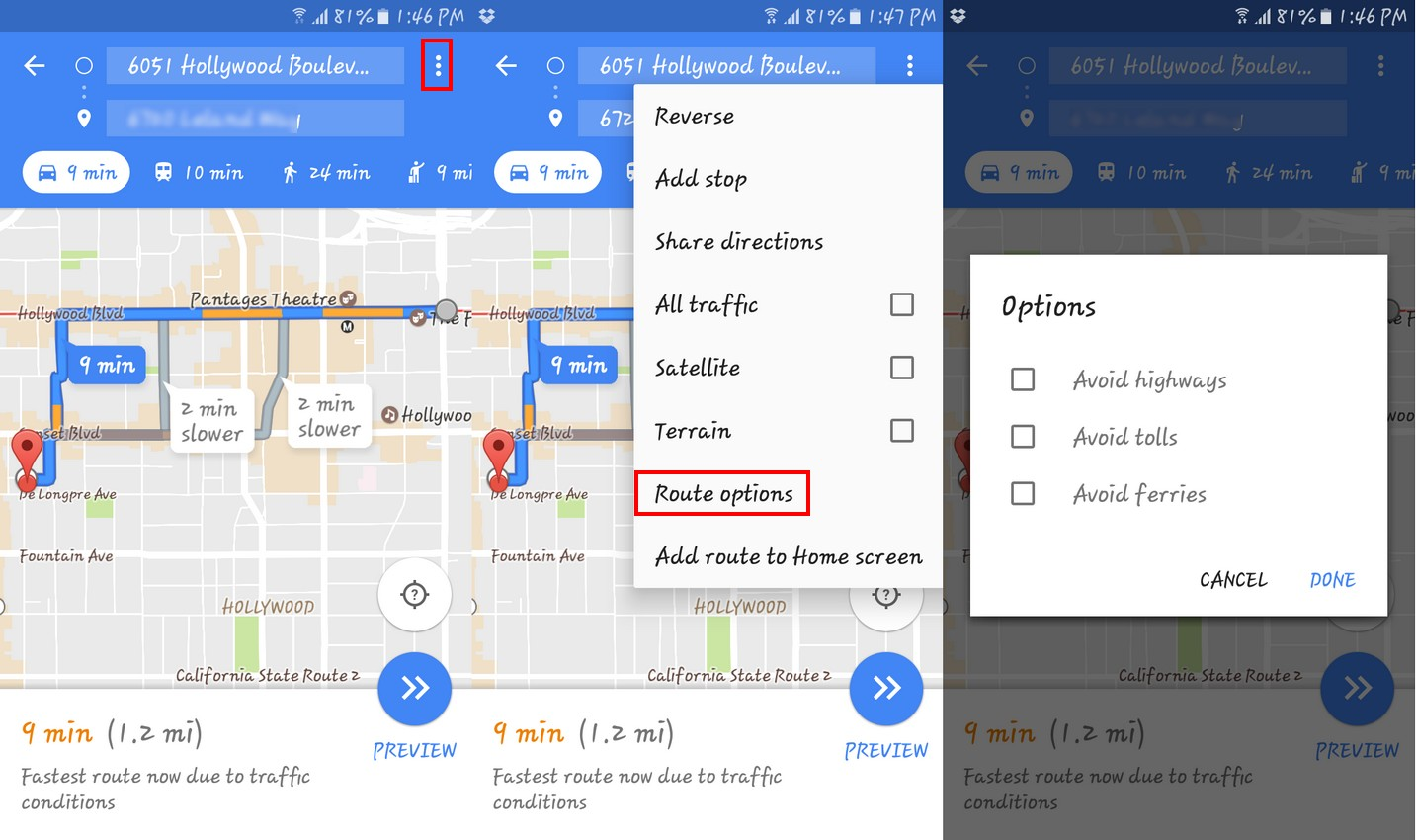 How to Avoid Areas in Google Maps