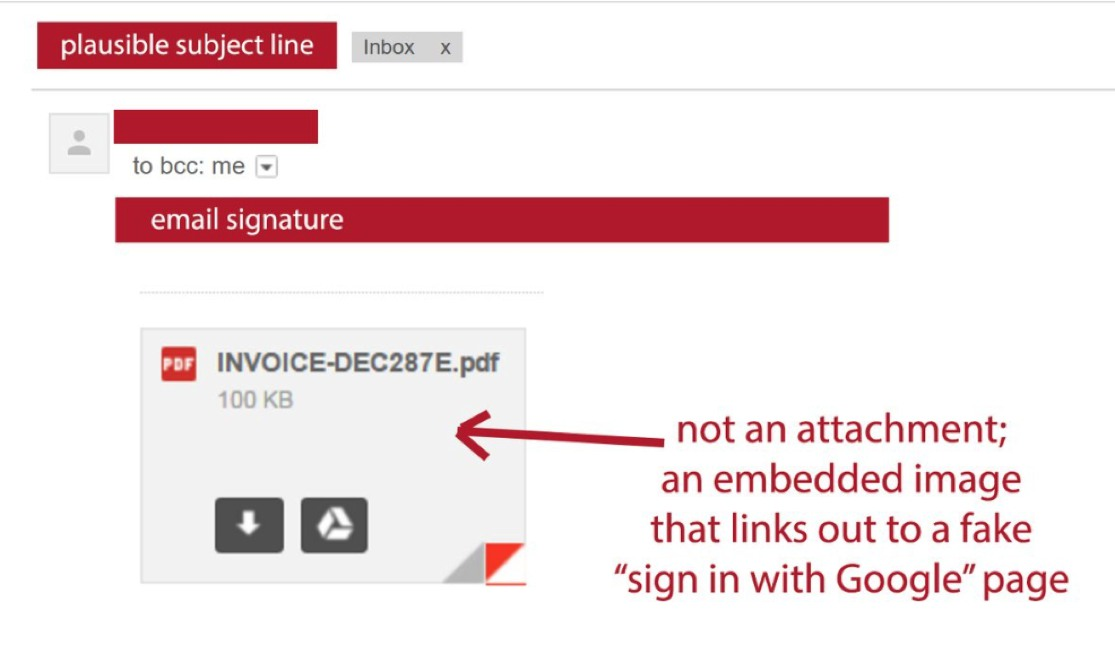 Email PDF Scam