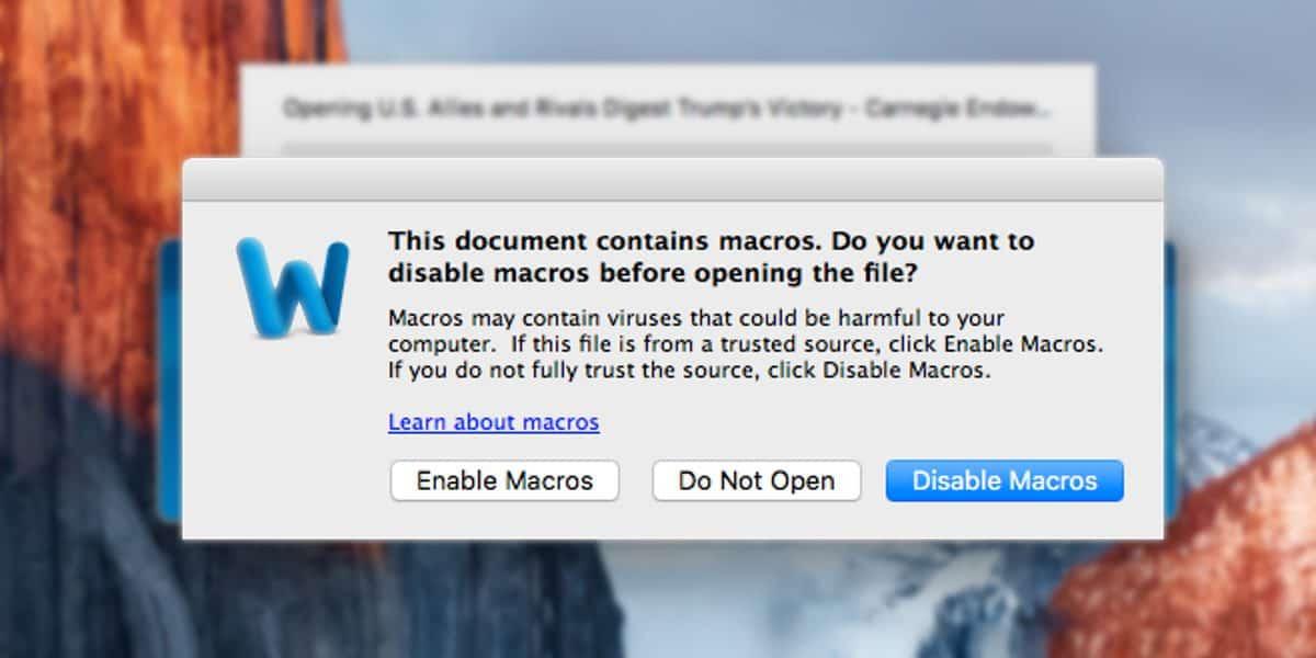 Mac Malware Macro