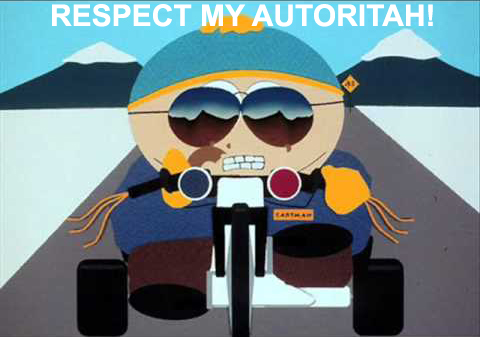 eric cartman cop autoritah