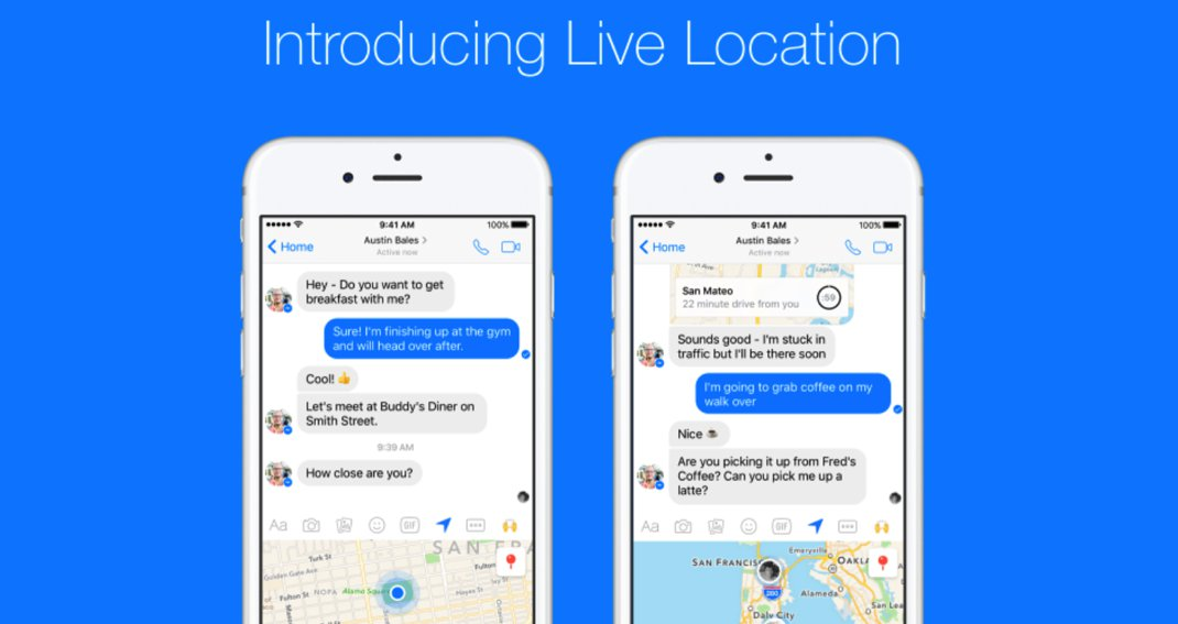 Facebook live location