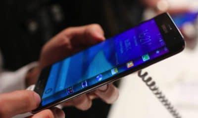 curved samsung smartphone